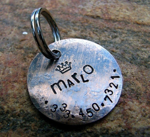 Marlo Custom Pet ID Tag, in Weathered Copper