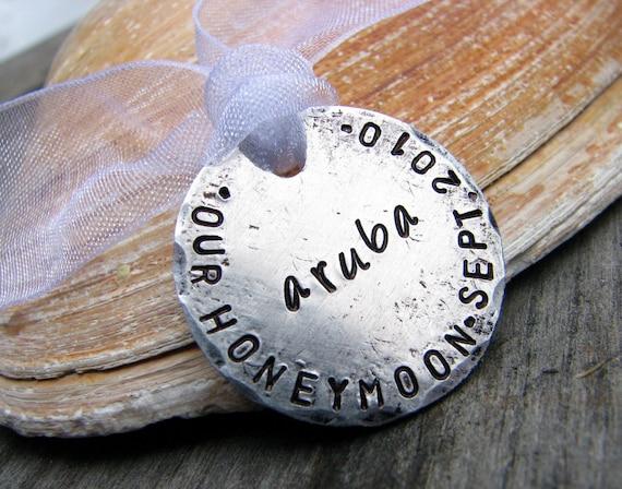 Custom Stamped Honeymoon Keepsake  - Perfect for Weddings, Anniversaries, Bridal Parties