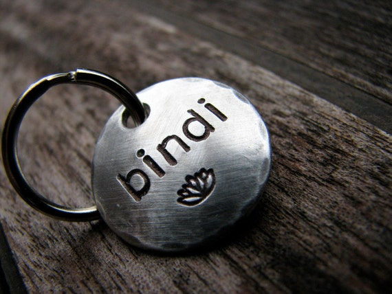 Customize Your Own Pet ID Tag in 3/4'' Aluminum - You Pick the Font & Stamp