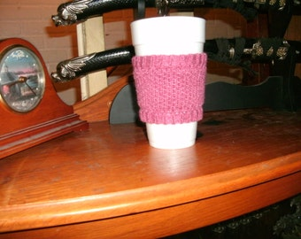 Rose Coffee Cup Cozy