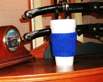 Royal Blue Coffee Cup Cozy