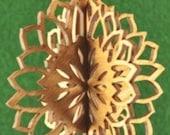 3-D Wood Sunflower Ornament