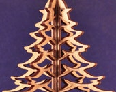 3-D Wood Christmas Tree Ornament