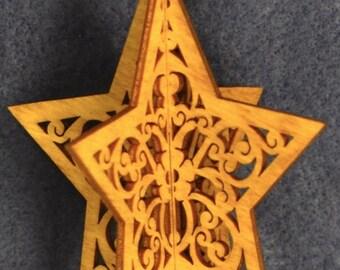 3-D Wood Star Ornament