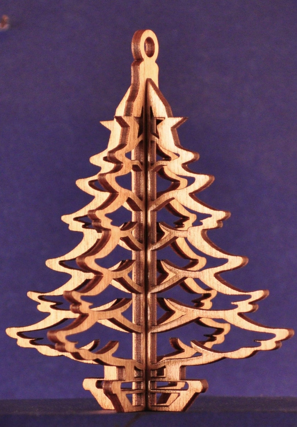 3-D Wood Christmas Tree Ornament