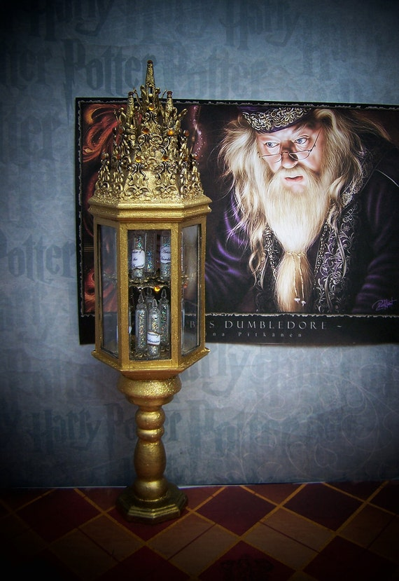 Lower Shipping-Dollhouse Miniature Harry Potter Dumbledore's Memory Vial Cabinet Layaway Available