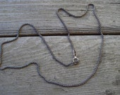 """Antiqued sterling silver chain in 20"""""""