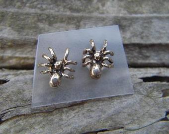 Spider earrings in sterling silver