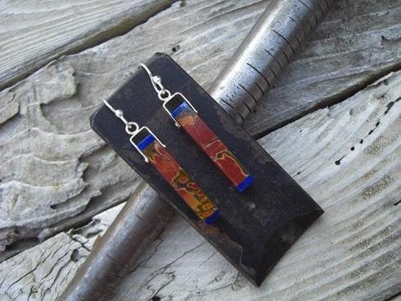 Picasso jasper earrings in sterling silver