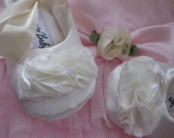 Ivory baptism shoes baby girl shoes off white toddler shoes flower girl shoes christening shoes - Pure Ivory