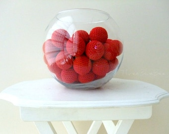 Big Red Balls 6Pcs (Without Holes)
