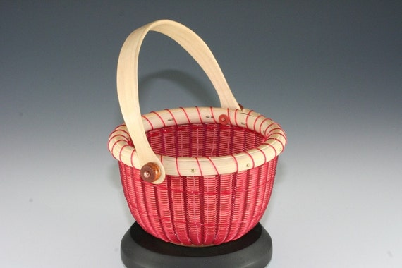 Red Fishing Line 4 inch Nantucket Style Basket (RR 2754)