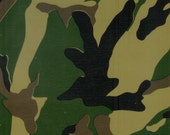 Camouflage in Green Oilcloth Yardage