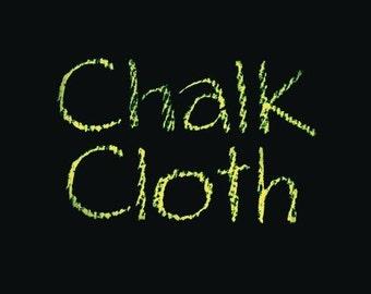 Black Chalk Cloth OilCloth-Yardage