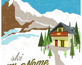 Customizable Mountain Print