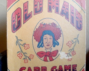 Vintage Old Maid Card Game circa 1950