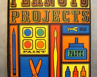 Vintage Peanuts Projects Oversized Craft Activity Book 1960s