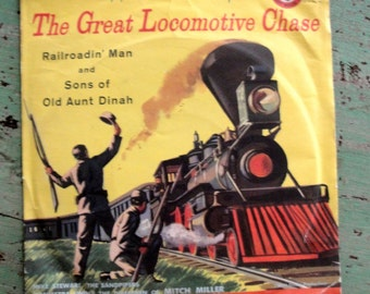 Vintage Golden Record Walt Disney Great Locomotive Chase 78RPM Unbreakable Red Plastic