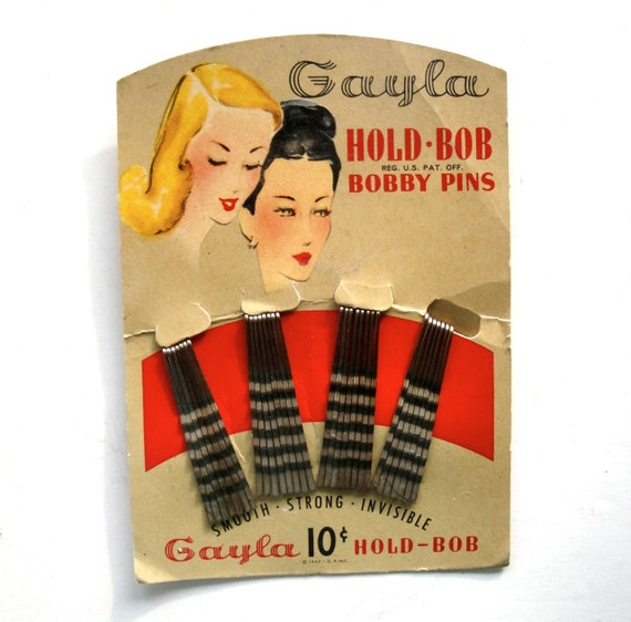 Vintage Bobby Pin Card Holder Gayla 1 of 2