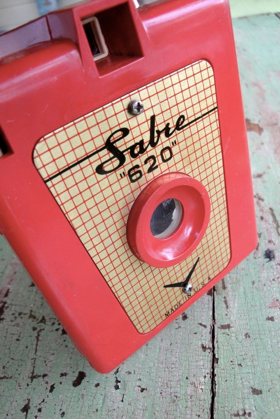 Vintage Camera Sabre 620 Red Bakelite 1950s RESERVED FOR ALICE