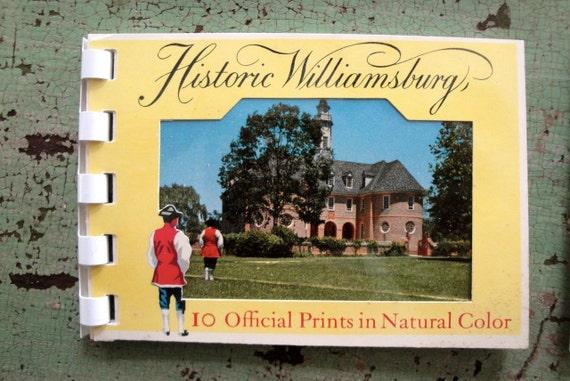 Vintage Souvenir Photo Album Book HISTORIC WILLIAMSBURG VIRGINIA