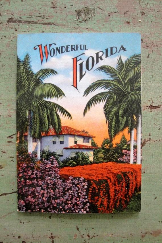 Vintage FLORIDA Souvenir Booklet Color Photographs