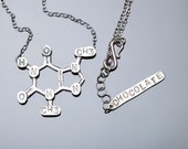 Chocolate Chemical Structure Necklace in Sterling Silver