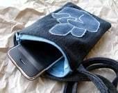 VERY NAUGHTY - Pouch for iPhone (or other cellphone) - from the Denim Collection