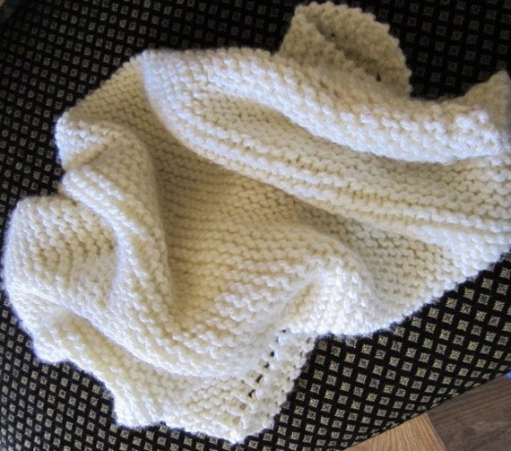 Knit baby Blanket (off white)