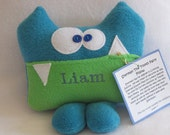 Personalized Sherman the Tooth Fairy Pillow and Tooth Fairy Chart by Kooky Critters™ KCP002