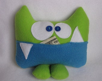 Tooth Fairy pillow - Sherman the tooth fairy pillow by Kooky Critters