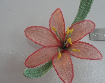 "Crochet flower pattern- ""wild day lily"" Instant Download"