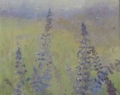 Periwinkle Blue oil floral landscape
