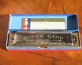 SALE Hohner Harmonica in Box, School Band Tenor, Plays Well, 1930s made in Germany