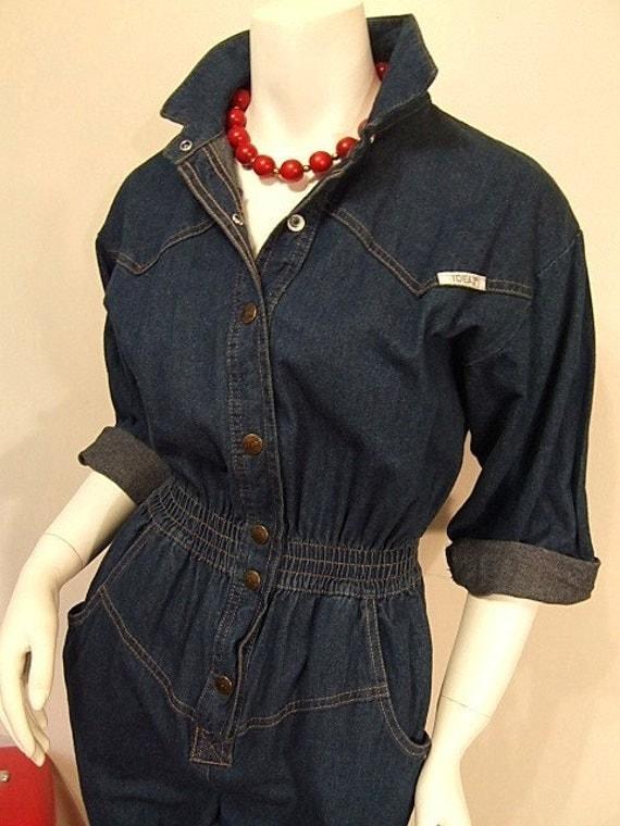 Rosie The Riveter Denim Jumpsuit Vintage By