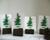 Custom Listing for Clint - Table Number Holders - Menu Holders - Rustic Wood Pine - Set of 16