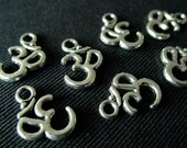 Destash (8) Small Ohm Charm - for pendants, jewelry making, crafts, scrapbooking
