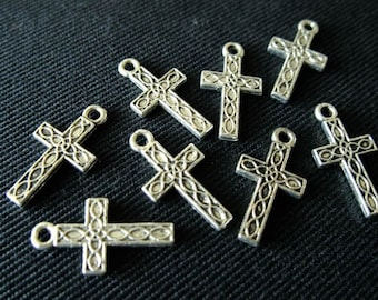 Destash (10) Celtic Cross Charms