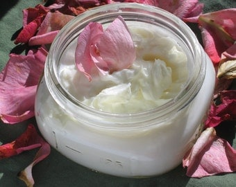 MADE TO ORDER//Organic Frankincense Lotion -- Generous 8 oz. Jar- Great for dry skin and acne prone skin
