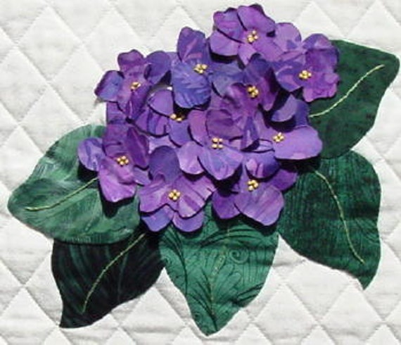 African Violet - Petal Play by Joan Shay - Applique Quilt Block Pattern