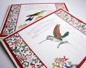 Note Cards, Hummingbird, Set of 4