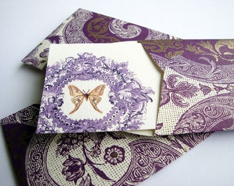 Gift Enclosure Card, Mini Card, Mini Cards and Envelopes, Gift Card Holder, Italian Paper, Set of 10