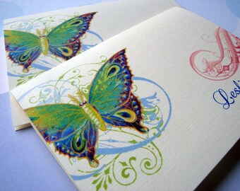 Personalized Stationery - Set of 8 Folded Note Cards