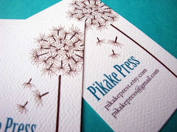 Personalized Dandelion Business Cards Calling Cards - Set of 50