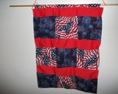 Patriotic Pocketed Wall Hanging Great Mothers Day Gift to help mom organize her space