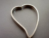 Bali Sterling Silver Bead Frame Heart 29mm 23mm