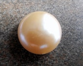 Freshwater Coin Pearls Natural Color Gold Pink Large Thick 18mm AAA - 01