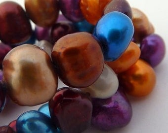 Freshwater Pearl Colorful Pearls Blue, Bronze, Burgundy,Gray, Gold, Purple 5mm 6mm