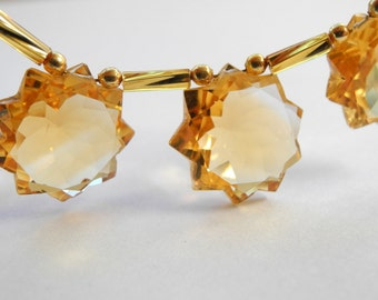 Citrine Bead Faceted Star Briolette Fancy AAA 15mm