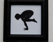framed yoga silhouette - crow pose - bakasana